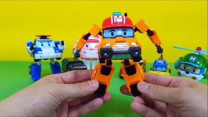 Robocar Poli Transformers   Poli Amber Roy Heli Mountain Rescuers Mark Poacher