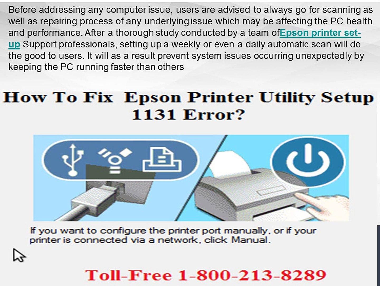 How To Troubleshoot Epson Printer Utility Setup 1131 Error?