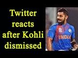Virat Kohli dismissed against England in Nagpur T20; Watch Twitter reaction | Oneindia News