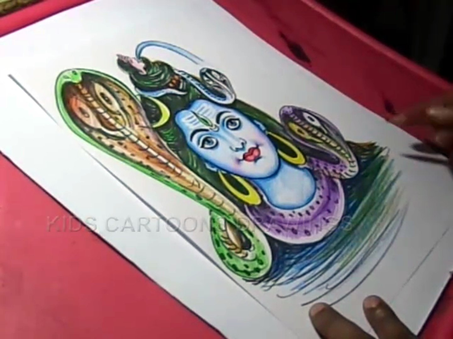 How To Draw Lord Shiva Drawing For Kids Step By Step Video