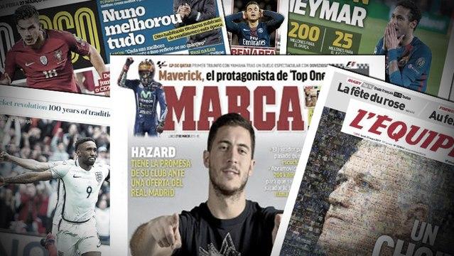 MU prépare une offre astronomique pour Neymar, ça chauffe pour Hazard au Real Madrid
