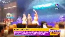 Serdar Ortaç'ın sahnede fenalaştığı görüntüler