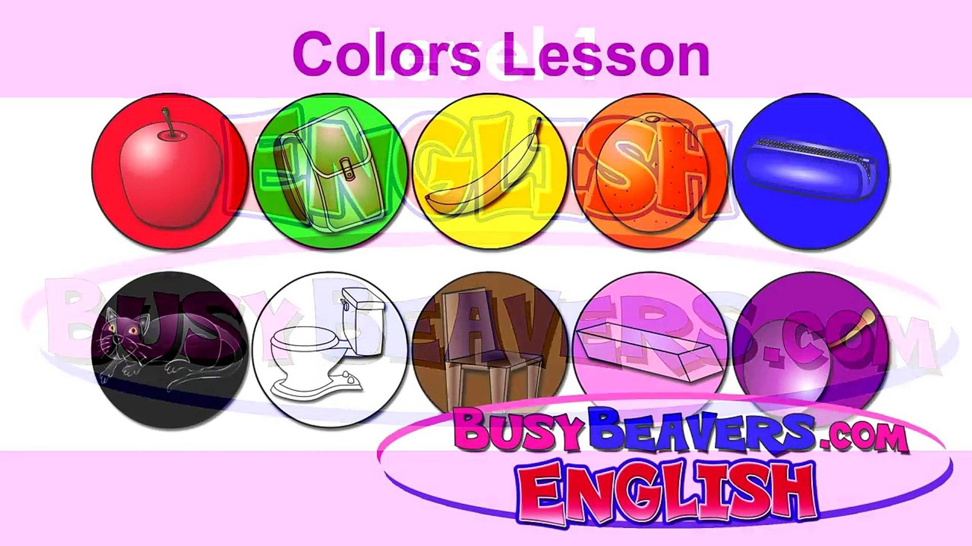 colors lesson (english) clip - childrens education, kids entertainment, preschool