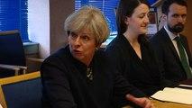 PM Theresa May visits Govan Police Station