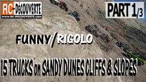 Franchissement tout terrain 4x4 Rigolo sur Dunes Falaises Pentes de Sable Abarretz 44 France
