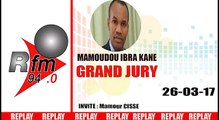 REPLAY AUDIO - GRAND JURY - invité : Mamour Cissé - 27 MARS 2017