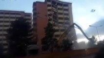 Büyük Bir Gürültü ile Yıkılan Hastane Binası Faciaya Neden Oluyordu... O Anlar Kamerada