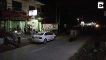 Un rhinocéros se promène dans la rue au Népal