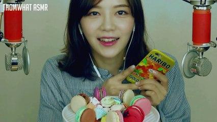 [Korean ASMR] Macaron & Meringue Cookie Eating Sound (Binaural) (반말주의) 마카롱과 머랭쿠키 잇팅 아그작아그작