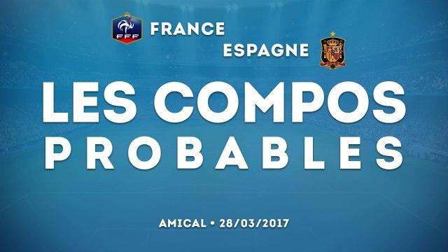 France-Espagne : les compos probables