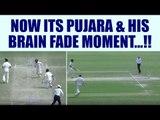 India vs Australia 4th Test: Cheteshwar Pujara faces brain fade, gets run out | Oneindia News