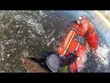 Estonian Rescuers Pull Fisherman from Frozen Lake