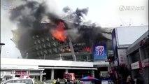 Un gros incendie dans le stade du Shanghai Shenhua