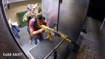 Un stand de tir à Las Vegas avec toutes les armes les plus puissantes du marché