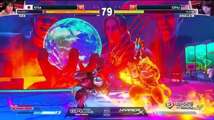 Eita e Gllty protagonizam duelo muito equilibrado na ELEAGUE Street Fighter V