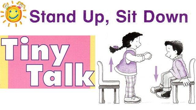 Easy Songs to learn English / Song 9 / Stand up, Sit down
