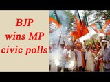 BJP wins civic polls in Madhya Pradesh, big win for Modi post Demonetization | Oneindia News