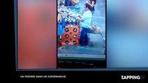Un pervers regarde sous les jupes des femmes dans un supermarché (vidéo)