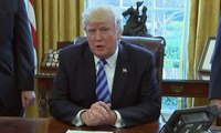 Donald Trump lambasts Democrats as Obamacare replacement bill pulled – video