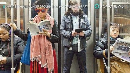 Nova-iorquinhos limpam pixação nazista de vagão do metrô.