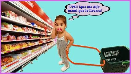 Gabriela va de Compras al Supermercado | Gabriela goes grocery shopping | diario de gabri y Eli