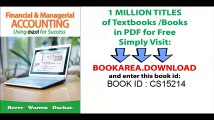Bundle_ Financial and Managerial Accounting Using Excel for Success + Essential Resources_ Excel Tutorials Printed Access Card + CengageNOW with eBook Printed Access Card