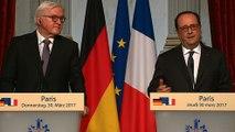 Déclaration conjointe avec M. Frank-Walter STEINMEIER, le président de la République fédérale d'Allemagne