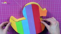 The Coolest DIY Rainbow Dzzzzzzzuck Phone Holder _ DIY Life Hacks by HooplaKidz How To-l