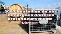 2000 bouteilles de vin en immersion dans les profondeurs du lac Léman