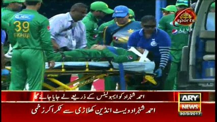 Ahmed Shehzad being sent to Hospital in response to collusion