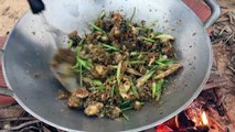 How To Catch And Cook Snails - Fried Snails Hot Spicy Basil Recipe-aWsEO0qyS