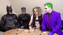 Batman, Joker - SUPERHERO MOVIE CHALLENGE! Harley Quinn, Catwoman-qult