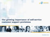 The growing importance of self-service customer support provisions