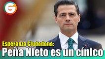 Peña Nieto es un cínico: Carlos Medina
