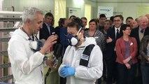 Visite du ministre Di Antonio au garage Delbar