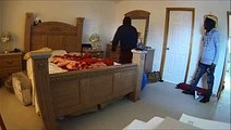 Une femme se cache dans sa salle de bain pour tenter d'échapper à des cambrioleurs
