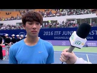 Hong Seong Chan wins the ITF Junior Masters men's title