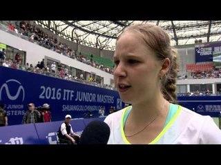 2016 ITF Junior Masters women's champion Anna Blinkova