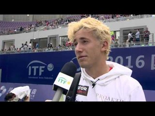 Casper Ruud talks after reaching the final