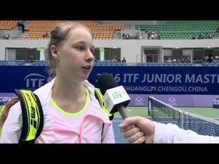 Anna Blinkova discusses her semifinal