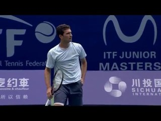 The boys of the 2016 ITF Junior Masters in practice