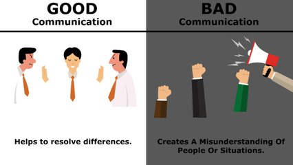 Good Commuunication vs Bad Communication