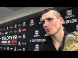 GLORY 28 PARIS: Rico Verhoeven Post-Fight Interview