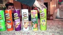 PRINGLES CHALLENGE! Guess POTATO CHIP Flavor . Food Tasting Contest-uvBDg5l0YzM