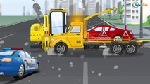 Kids Video Police Cars Racing Cars Race on the road Fire Truck Vehicles | Cars Cartoon for children