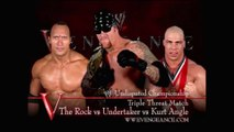 WWE - The Rock vs Kurt Angle vs Undertaker (Undisputed Championship)