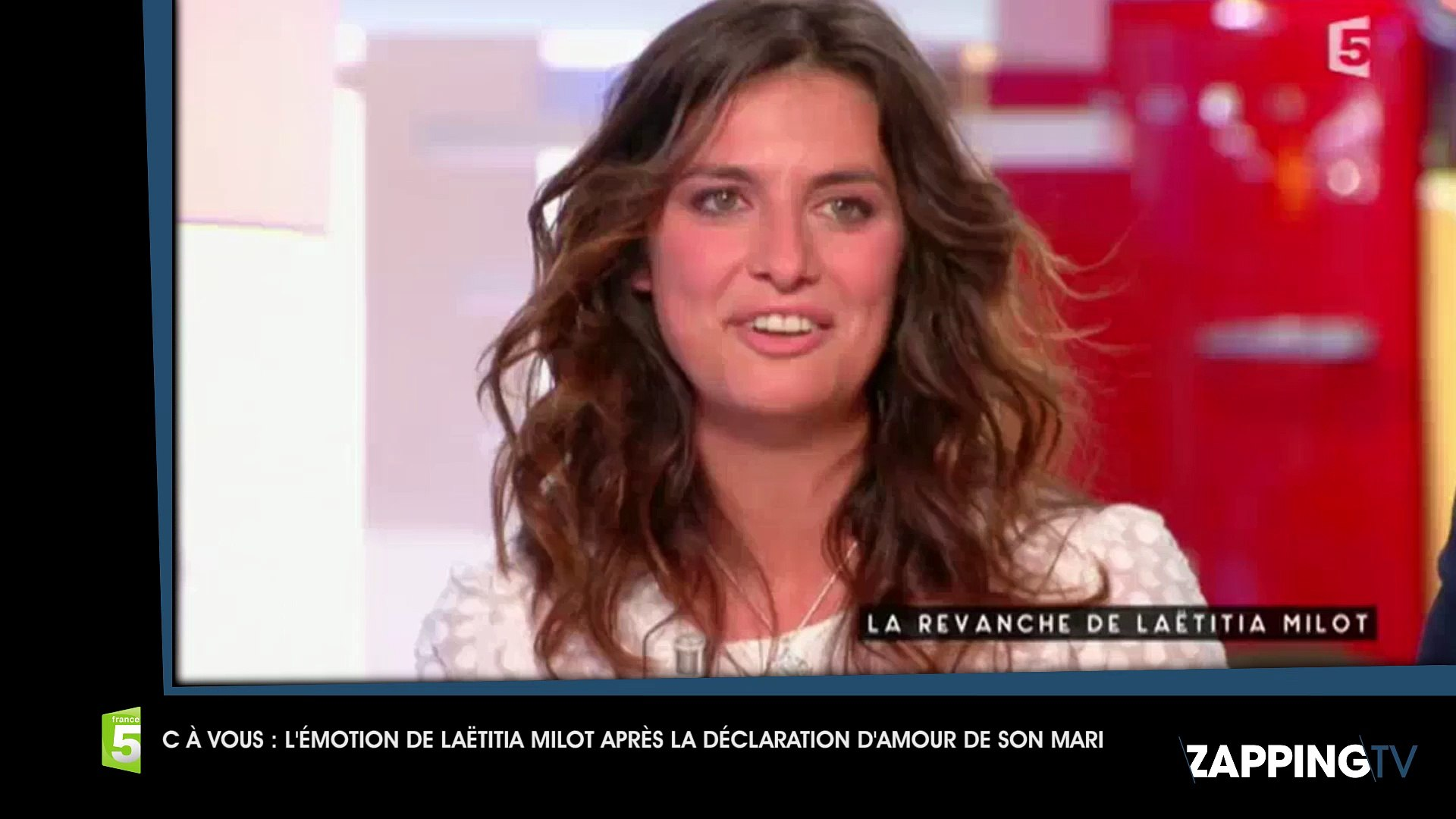 C à Vous Les Larmes De Laëtitia Milot Après La Déclaration Damour De Son Mari Vidéo