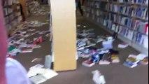 東日本大震災(東北関東大震災) 福島県いわき市の図書館の様子