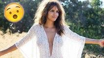 Halle Berry FLAUNTS Cleavage In Plunging Neckline Dress | Halle Berry INSTAGRAM