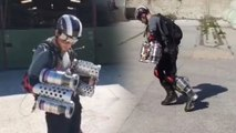 The real flying IRON MAN - Marvel Cosplay